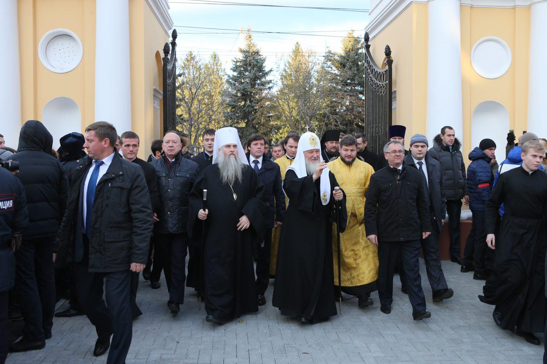 Патриарх Кирилл в ходе визита в октябре 2014 года совершил Малое освящение университетского храма