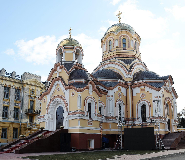 вид университетского храма в честь Кирилла и Мефодия