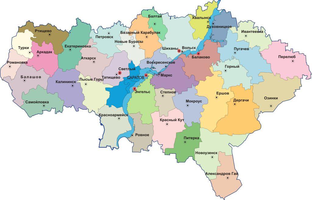 Районы Саратовской области